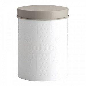 Емкость для хранения кофе белая-серая