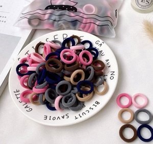 Набор резинок ассорти для волос маленькие/10шт