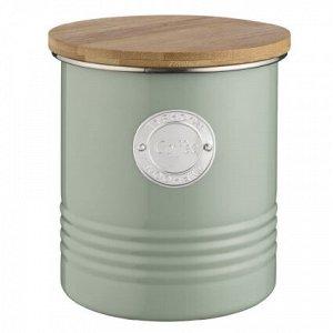 Емкость для хранения кофе зеленая 1 л