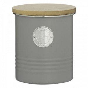Емкость для хранения кофе серая 1 л