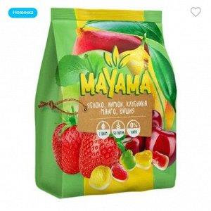 «Маяма», жевательный мармелад с соком манго, клубники, лимона, вишни, яблок, 250 г
