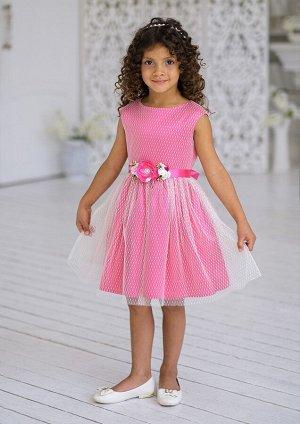 Флора нарядное платье малиновый