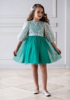 Виолета нарядное платье зеленый