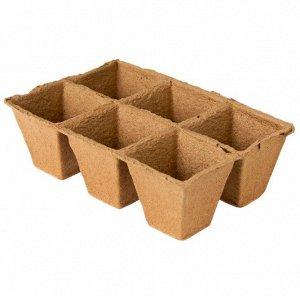 Горшочек торфяной 90х90 по 6 ячеек 1/39 (-)