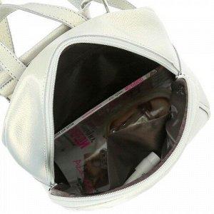 Женская кожаная сумка-рюкзак 8238 A GREY
