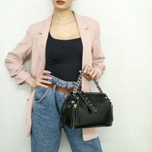 Женская кожаная сумка 20553 BLACK