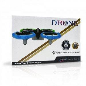 Квадрокоптер р/у  Мини-дрон 134Н 12,5 см, 4 канала,3D трюк, свет.,24*15*6 см