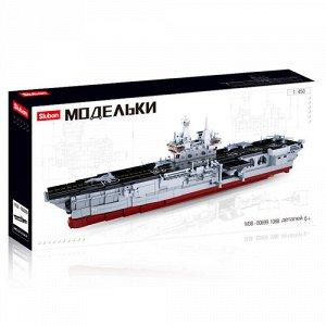 """Конструктор пласт. """"Sluban"""" 1088 дет. Флот.Десонтный корабль,1:450, 38*9*76 см"""