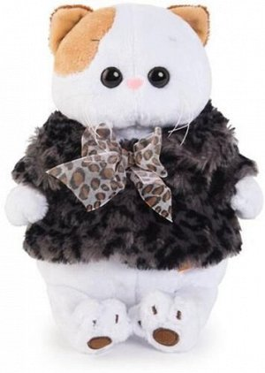 Игрушка мягк. Кошечка Ли-Ли в шубке с бантиком,24 см
