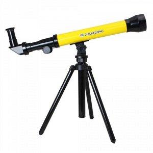 Игрушка Телескоп со штативом (зум 20х/40х/60х) аксесс, цв.желтый, 47,5*22 см
