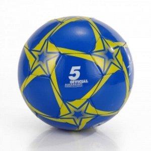 """Мяч футбольный  """"Ziimer"""" Капитан команды (размер 5,ПВХ,230 гр.) цв. желто-синий"""