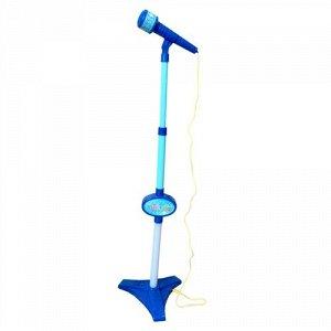 Игрушка музыкальная Стойка с микрофоном,65-85 см,свет, цв. голубой ,21*32*6 см