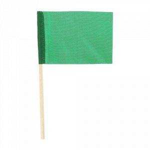 Флажок 10*15 см, длина 25 см. цв. зеленый