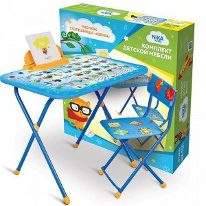"Набор мебели ""Nika Kids"" Азбука (стол+ мягк.стул) тм NIKA"