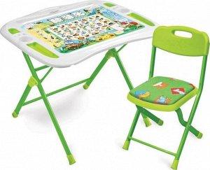 "Набор мебели ""Веселая азбука""  (стол+ мягк.стул) тм NIKA"
