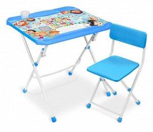 Набор мебели с азбукой в кругу друзей  (стол+ мягк.стул) тм NIKA