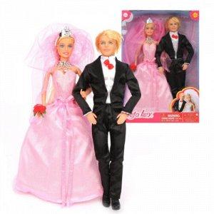 "Набор кукол ""Defa Lucy"" Свадьба, 2 куклы с аксесс, кор.22,5*5,5*33 см"