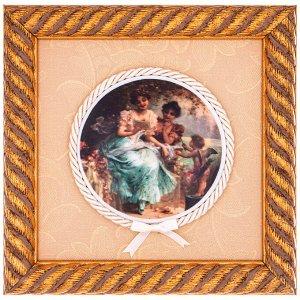 Панно ПАННО НАСТЕННОЕ 20*20 СМ  Материал: Дерево/Керамика ARTE CA.SA- итальянская компания, которая специализируется на производстве  картин, фарфоровых и керамических панно, барельефов и других инте