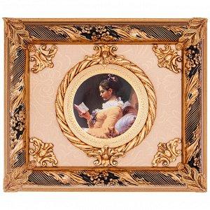 Панно ПАННО НАСТЕННОЕ 37*32 СМ  Материал: Дерево/Керамика ARTE CA.SA- итальянская компания, которая специализируется на производстве  картин, фарфоровых и керамических панно, барельефов и других инте
