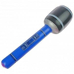 Игрушка надувная «Микрофон» 65 см, звук, цвета МИКС