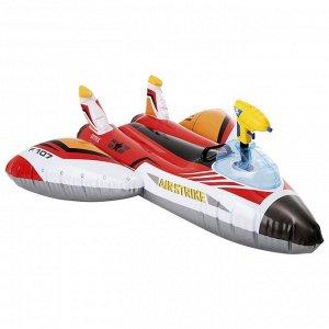 Плот для плавания «Самолет», 117 х 117 см, с водной пушкой, от 3 лет, до 40 кг, 57536NP, цвета микс