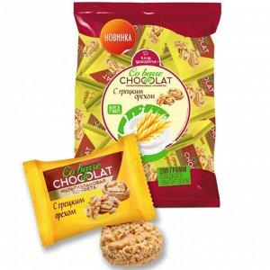 Конфеты COBARDE de CHOCOLATE мультизлаковые с белой глазурью и грецким орехом 200гр