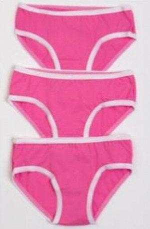 Набор трусов для девочек розовый