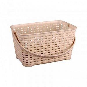 Корзина Корзина   170*240*130мм 3,0л с/руч [ПЛЕТЁНКА] СЛОНОВАЯ КОСТЬ.Корзина предназначена для хранения мелочей в ванной, на кухне или на даче. Данное изделие позволит хранить мелкие вещи, исключая во