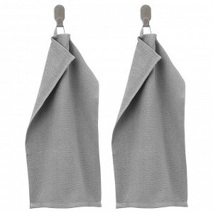 KORNAN КОРНАН   Полотенце, серый   30x50 см.
