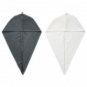 TRATTEN ТРЭТТЕН   Полотенце для сушки волос, темно-серый/белый.