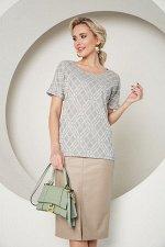 Блузка Селеста №11. Цвет:серый/ромб