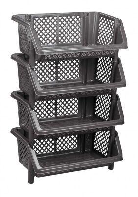Этажерка Этажерка 4-х секц прямоуг с корзинами [ЭКОНОМ]. Этажерка предназначена для хранения различных предметов в доме. Данное изделие поможет сэкономить пространство и хранить все полезные вещи под