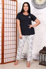 Пижама (тройка: футболка, брюки, шорты)