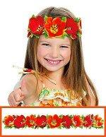 Картонный ободок из цветов