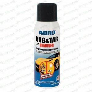 Очиститель кузова ABRO Bug & Tar Remover, от следов насекомых, смолы и дорожной грязи, аэрозоль 340г, арт. BT-422