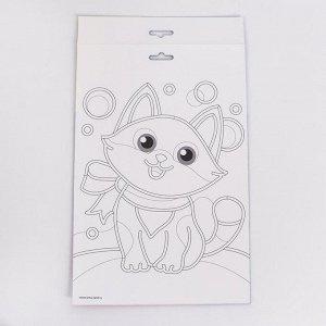 Аппликация пайетками «Бенгальская кошка» + 4 цвета пайеток по 7 г