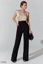 Широкие брюки с высокой талией