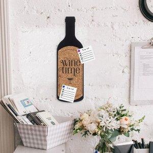 Пробковая доска Wine time, 9,2 х 29 см