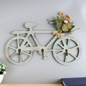 """Крючки декоративные дерево """"Велосипед с букетом цветов"""" 22х40х3,5 см 5156503"""