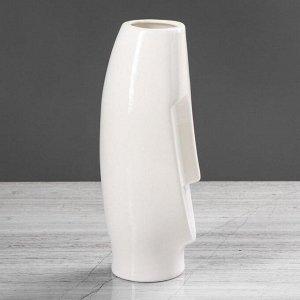 "Ваза настольная ""Лицо"". глянец. белая. 26 см. керамика"