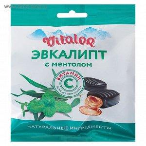 Виталор® Эвкалипт-ментол, леденцовая карамель со вкусом эвкалипта с витамином С - БАД, 60 г
