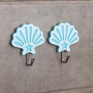 Набор крючков на липучке «Моно», 2 шт, цвет и форма МИКС