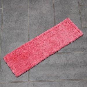Накладка для плоской швабры, 44?13 см, микрофибра, цвет МИКС