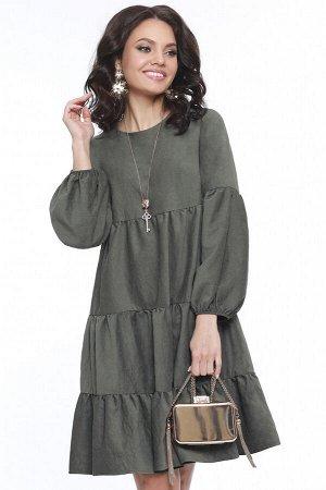 Платье Модная фантазия, хаки