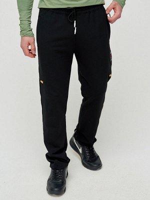 Трикотажные брюки мужские черного цвета 2226Ch