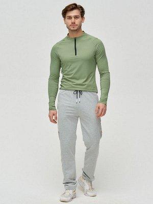 Трикотажные брюки мужские серого цвета 2226Sr