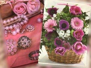Пакет подарочный Цветы микс пластик