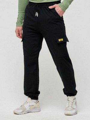 Штаны джоггеры мужские черного цвета 2286Ch