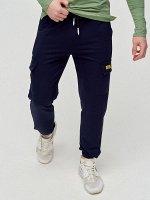 Штаны джоггеры мужские темно-синего цвета 2286TS