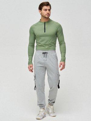 Штаны джоггеры мужские серого цвета 2266Sr